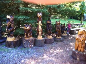 TRADE YOUR 4X4 ATV FOR MY CHAINSAW CARVINGS! Peterborough Peterborough Area image 1
