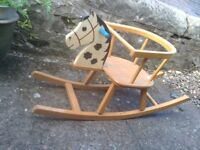 Vintage children rocking horse