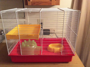 """Small Metal Animal Cage 17.5""""L, 11""""W, 15""""H"""