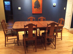 Beautiful Dining Set - Circa 1920s,Table, 6 Chairs and Sideboard