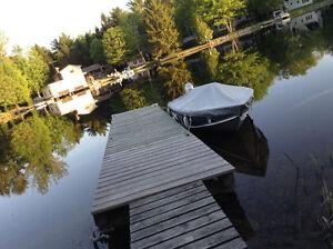 Boat Dock Rental Mukoka River Moments from Lake