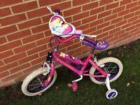 "DIsney Princess Bike 14"" Wheels 10"" Frame 4-6 Years"