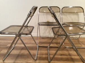 4x Vintage Plia Chairs by Anonima Castelli-4x Chaises Retro 1970
