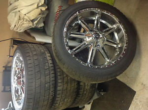 4 pneus et rims 22 pouces (Mag and tires 22 inches)