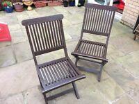 Pair garden chairs