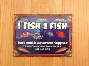 1 FISH 2 FISH - Store Gift Card - $75 for $100!!!