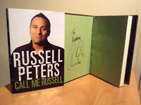Russell Peters signed book - Call Me Russell