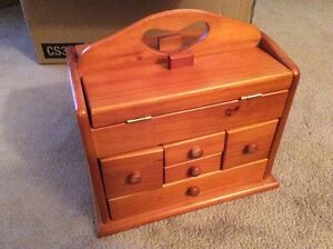 Small sewing cabinet or jewelry box