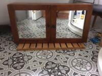Bathroom Mirror Cabinet with toiletries shelves