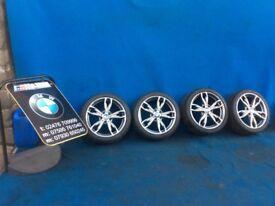 "BMW 1 2 SERIES F20 F21 F22 F23 M135i M140i M DOUBLE SPOKE 436 18"" ALLOY WHEELS & TYRES"