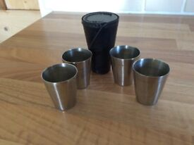 shooting/fishing tumblers in leather case
