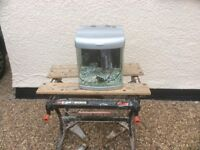 Complete bow fronted tropical aquarium fish tank set up