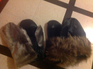 Seal skin mittens -Man  and woman set