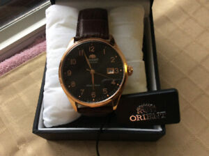 Orient Duke Black Watch with Brown Leather Band new in box