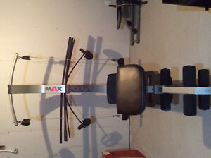 Weider Max exercise equipment.