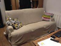 Sofa and two arm chairs 3 piece suite