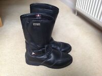 Akito Viper leather motorbike boots size 8/42