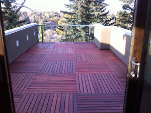 Condo Deck Tiles Hardwood - Easy Maintenance/Extremely Durable