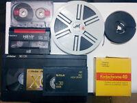 Service de transfert VHS Audio analogique bobine Numérique - DVD