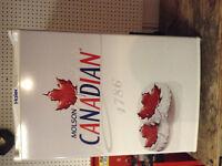 Brand new Molson Canadian bar fridge