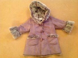 Chamonix girls age 3-4 winter coat sheepskin duffle