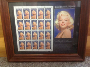 Marilyn Monroe stamp and photo. Framed London Ontario image 1