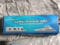 Range master, long range WiFi-outdoor Omani-directional antenna and router kit