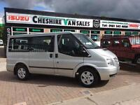 2012 12 FORD TRANSIT 2.2 280 LIMITED TOURNEO 9 SEAT MINIBUS 125 BHP OPEN 7 DAYS