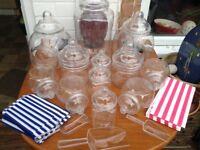 12 x Plastic sweet jars