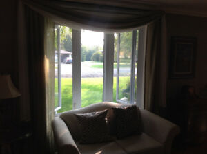 Quality vertical blind and two sets of sheers with rod