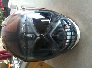 Air Brushed Iron Madien Helmet