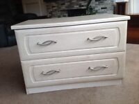 Solid birch veneer chest of drawers