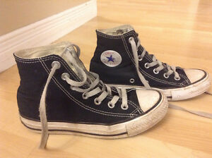 Black High Top Converse shoes size 3.5 men size 5.5 woman