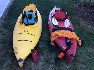 Kayaks, nine feet