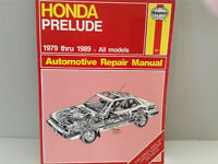 HAYNES Honda Prelude Repair Manual 1979-1989