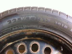 4 Nokian winter tires and rims-excellent condition Strathcona County Edmonton Area image 6