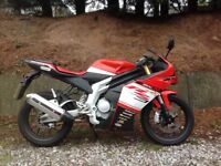 Rieju rs3 super sports 125cc motorbike learner legal