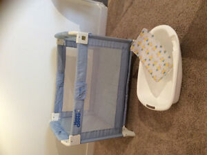 Playpen and baby bath