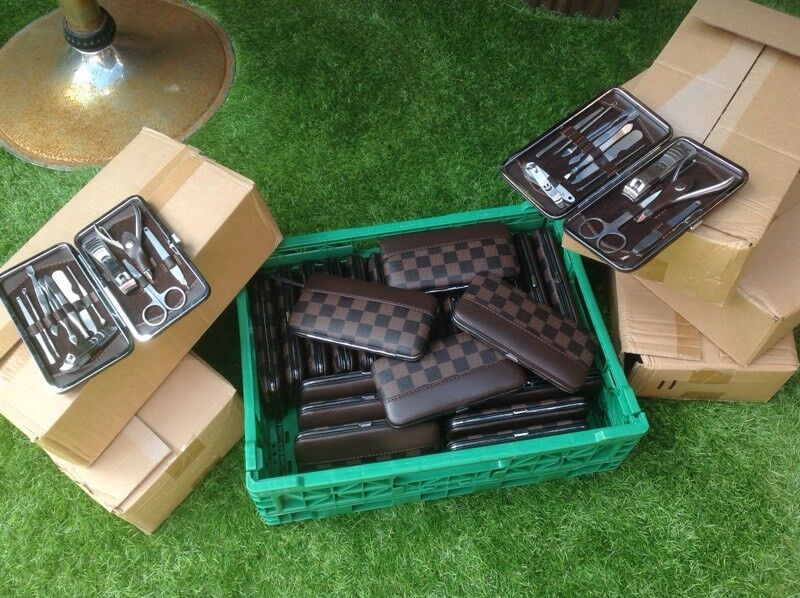 Louie Vuitton style grooming manicure kits joblot clearance bankrupt stock