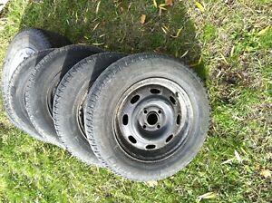 Honda 4x100 rims with X ice tires