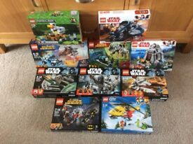 Lego 10 Sets Star Wars, Super Heroes, Minecraft, all Brand New Sealed Boxes Ex Shop Stock