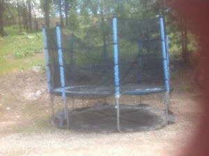 Trampoline with protective netting, outside walls ..$110.00
