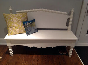 Entry hall bench - vintage chalk paint finish