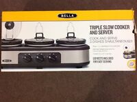Triple Slow Cooker And Server BRAND NEW!!!