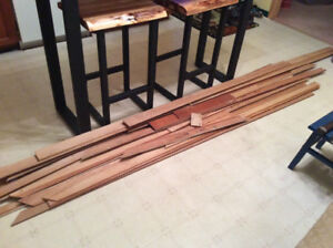 Used pine baseboards & casing