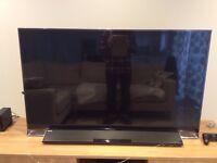 Top of the range panasonic viera TX55as802 3d 55 inch tv WITH Panasonic wireless soundbar