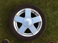 Ford Fiesta 15 inch alloy wheel with tyre