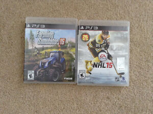 2 PS3 games, hardly used.