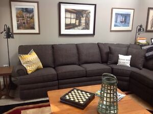 """Charcoal grey sectional sofa by """"Norwalk"""""""