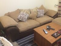 Large DFS sofa and footstool